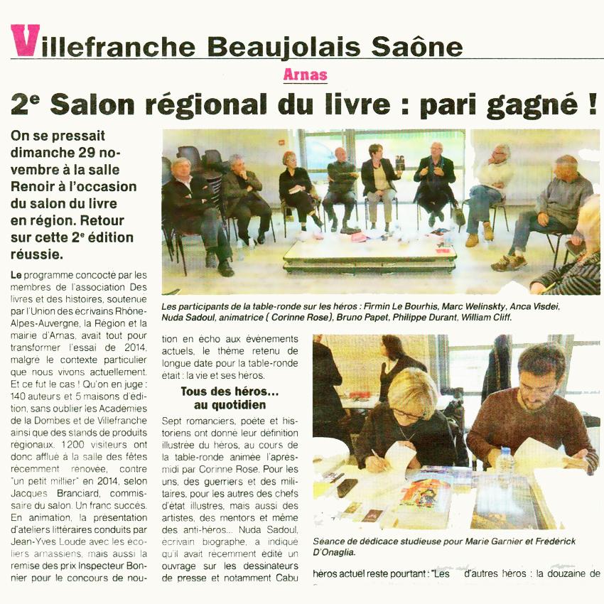 2e salon r gional du livre en beaujolais pari gagn - Salon du e marketing ...