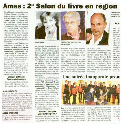 Arnas 2e salon du livre en r gion le patriote beaujolais - Salon du livre gaillac ...